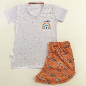 Pijama Personalizado Infantojuvenil Boho