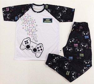 Pijama Personalizado Infantojuvenil Gamer