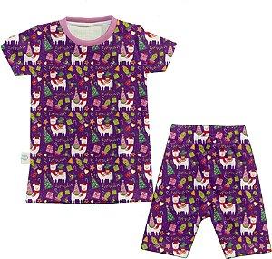 Pijama  Natal Lhama