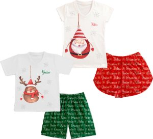 Pijama Personalizado Natal em Família