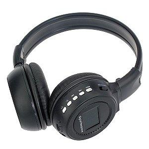 Fone de Ouvido Bluetooth Sem Fio com Visor FM e Cartao de Memoria BQ-N65