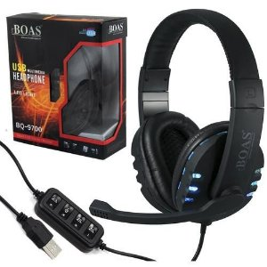 Headset Gamer USB para PS3 / PC BOAS BQ-9700