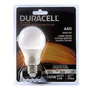 Lâmpada Led Duracell Bulbo A60 5,3W Amarela Bivolt