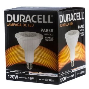 Lâmpada Led Duracell PAR38 18W Amarela Bivolt