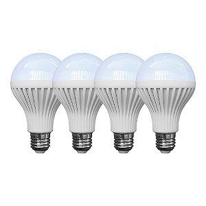 Kit com 4 Lâmpadas de Led K-LED - 9W/127V - Branca