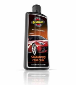 SHAMPOO COM CERA AUTOMOTIVO BRACLEAN 500ML