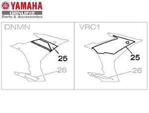 GRAFICO DIREITO DA CARENAGEM DIANTEIRA PARA XJ6-F 2015 ORIGINAL YAMAHA