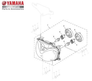 Farol Dianteiro Conjunto Yamaha XT 250 Z Ténéré 2011/14 Original
