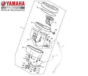 VELOCIMETRO COMPLETO PARA XTZ125 E XTZ125X MOTARD 2009 A 2016 ORIGINAL YAMAHA