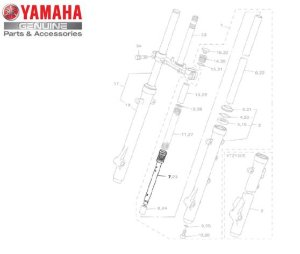 CILINDRO INTERNO ( FLAUTA ) COMPLETO PARA XTZ150 CROSSER ORIGINAL YAMAHA