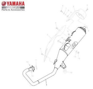Escapamento Completo Yamaha  Factor 150 Original