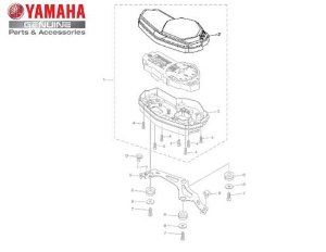 CAIXA SUPERIOR DO VELOCIMETRO PARA MT03 ORIGINAL YAMAHA