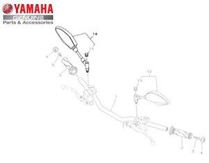 ESPELHO RETROVISOR DIREITO CONJUNTO MT-03 E MT-09 ORIGINAL YAMAHA