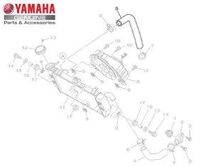 MANGUEIRA DO RADIADOR LADO DIREITO MT-03 E YZF R3 ORIGINAL YAMAHA