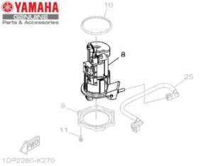 BOMBA DE COMBUSTIVEL COMPLETA PARA XJ6-N E XJ6-F ORIGINAL YAMAHA