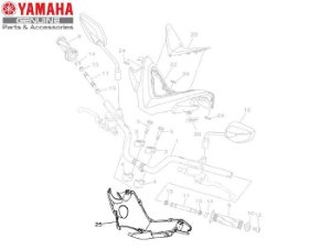 TAMPA INFERIOR DO GUIDAO PARA NMAX 160 ORIGINAL YAMAHA