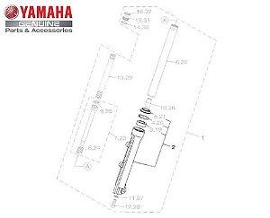 TUBO EXTERNO ESQUERDO SUSPENÇÃO DIANTEIRA NMAX 160 ORIGINAL YAMAHA