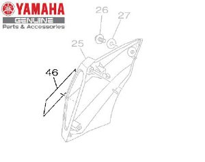EMBLEMA 3D DA TOMADA DE AR DIREITA PARA MT-09 ORIGINAL YAMAHA