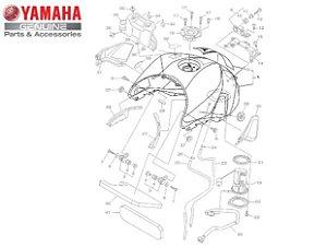 TANQUE DE COMBUSTÍVEL PARA MT-09 2015 A 2020 ORIGINAL YAMAHA