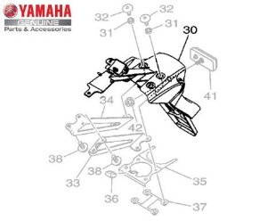 SUPORTE DE PLACA PARA MT-07 2016 A 2020 ORIGINAL YAMAHA