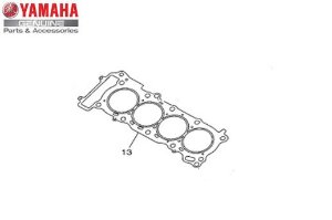 JUNTA DO CABECOTE DO CILINDRO PARA XJ-6 F OU N ORIGINAL YAMAHA