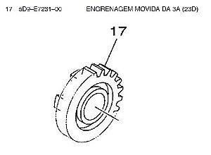 Engrenagem Movida da 3 A (23D) Crypton T115