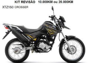 KIT REVISÃO XTZ150 CROSSER 10.000KM ou 20.000KM (Peças + Óleo) + Boné exclusivo