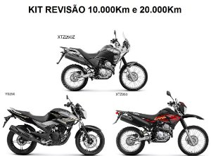 KIT REVISÃO FAZER PARA LANDER e TÉNÉRÉ 250cc 10.000KM ou 20.000KM (Peças + Óleo) + Boné exclusivo Yamaha + Chaveiro Metal Yamaha