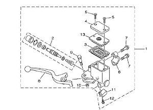 Cilindro Mestre conjunto XTZ250 Lander
