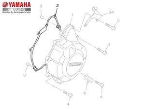 GAXETA OU JUNTA DA TAMPA ESQUERDA DO MOTOR XJ6 N E F ORIGINAL YAMAHA
