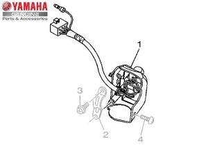 INTERRUPTOR DO GUIDÃO ESQUERDO PARA NEO 125 UBS 2016 E 2017 ORIGINAL YAMAHA
