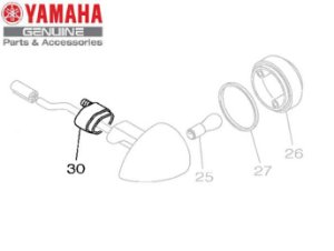 SUPORTE DO PISCA PARA XVS950 MIDNIGHT STAR ORIGINAL YAMAHA