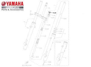 TAMPA SUPERIOR DA BENGALA DA XTZ150 CROSSER ORIGINAL YAMAHA