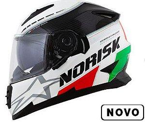 CAPACETE NORISK FF302 GRAND PRIX ( ITALIA ) COM VISEIRA INTERNA - LANÇAMENTO !