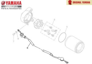 CHICOTE DO MOTOR ORIGINAL YAMAHA ( APLICAÇÃO NAS MOTOS ABAIXO )