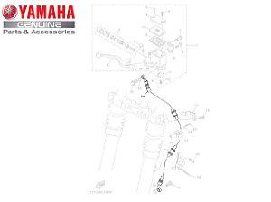 MANGUEIRA DE FREIO CONJUNTO PARA XTZ125 ORIGINAL YAMAHA