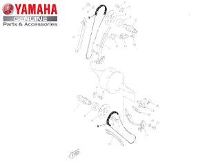CORRENTE DE COMANDO PARA XV250 VIRAGO ORIGINAL YAMAHA