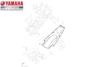 PARALAMA TRASEIRO INFERIOR PARA YZF R1 2002 e 2003 ORIGINAL YAMAHA