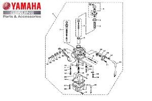 CARBURADOR COMPLETO YBR 125 2003 A 2005 ORIGINAL YAMAHA