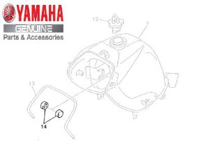 AMORTIZADOR ( COXIM ) DO TANQUE PARA XT600 E ORIGINAL YAMAHA