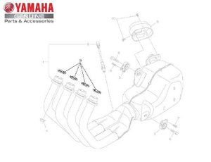 GAXETA ( GUARNIÇÃO ) DO TUBO DE ESCAPE PARA XJ6N ;  MT-07 ;  XT660R ORIGINAL YAMAHA