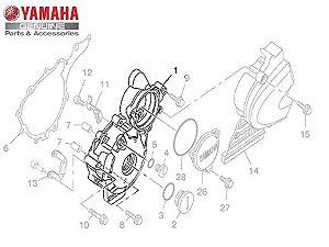 TAMPA ESQUERDA DA CARCAÇA DO MOTOR PARA FAZER 250 ORIGINAL YAMAHA