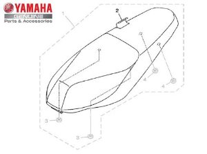 CAPA DO BANCO PARA NEO 125 UBS ORIGINAL YAMAHA