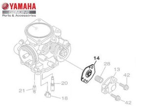 DIAFRAGMA DO CARBURADOR PARA NEO, XTZ 125, TTR 125 E FACTOR YBR ORIGINAL YAMAHA