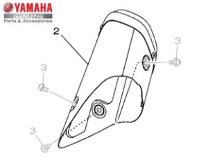 PROTETOR DO ESCAPAMENTO PARA MT-07 DE 2015 A 2020 ORIGINAL YAMAHA