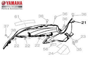 TAMPA LATERAL DIREITA DO TANQUE PARA MT-07 ORIGINAL YAMAHA