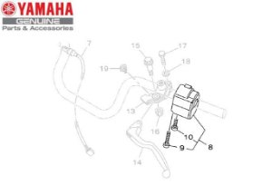 PUNHO OU INTERRUPTOR ESQUERDO DO GUIDAO PARA YBR125 E YBR125 FACTOR ORIGINAL YAMAHA