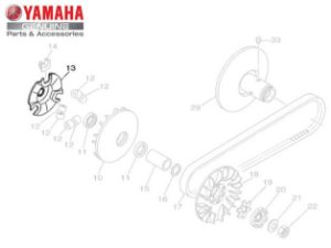 CAMES DA EMBREAGEM PARA AT115 NEO ORIGINAL YAMAHA