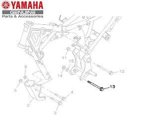 PARAFUSO FLANGE (M8) DO MOTOR YBR125 FACTOR ORIGINAL YAMAHA