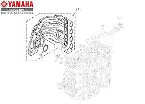 TUBO MULTIPLO 1 PARA MOTORES DE POLPA F115 E FL115 DE 2014 A 2019 ORIGINAL YAMAHA